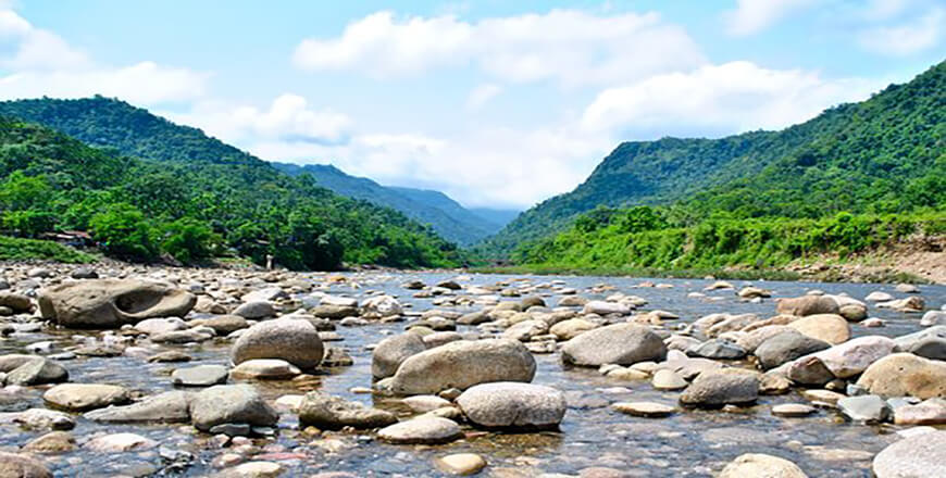 Bisnakandi is a place in Sylhet composed of water rocks gardens hills