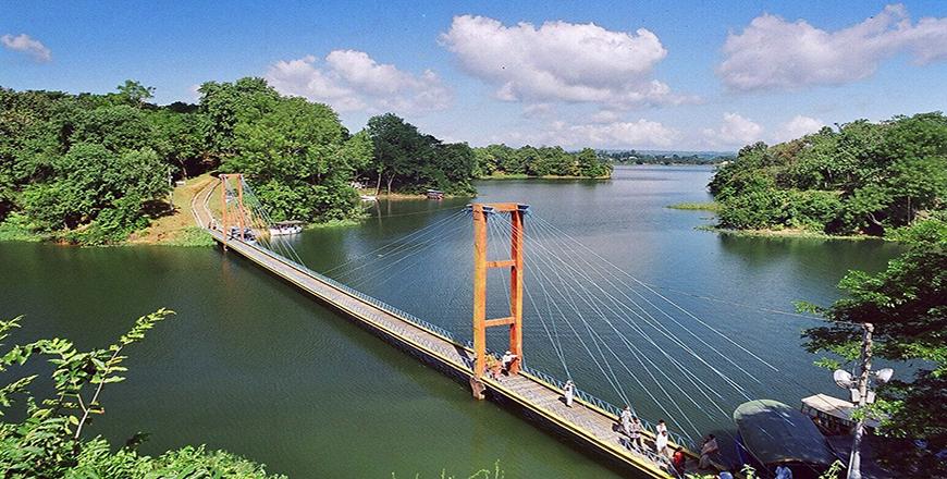 Kaptai Lake the largest human-made lake in Rangamati