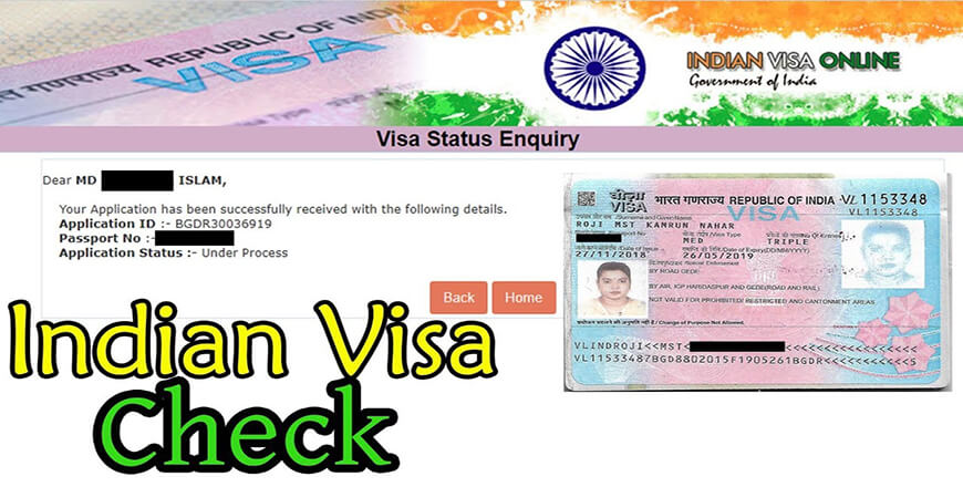 Indian Visa Status Enquiry Check for Banladeshi Citizen
