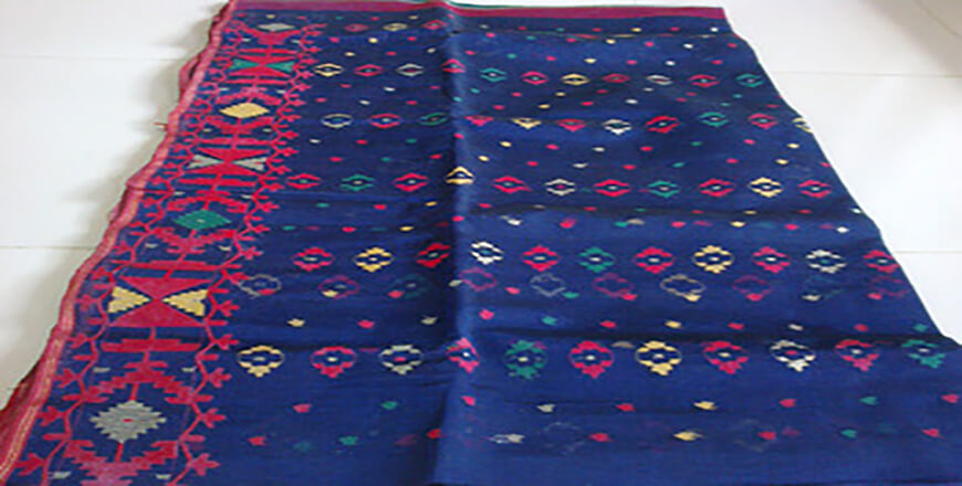 Dhakai Jamdani Saree is an exclusive Sari in Bangladesh