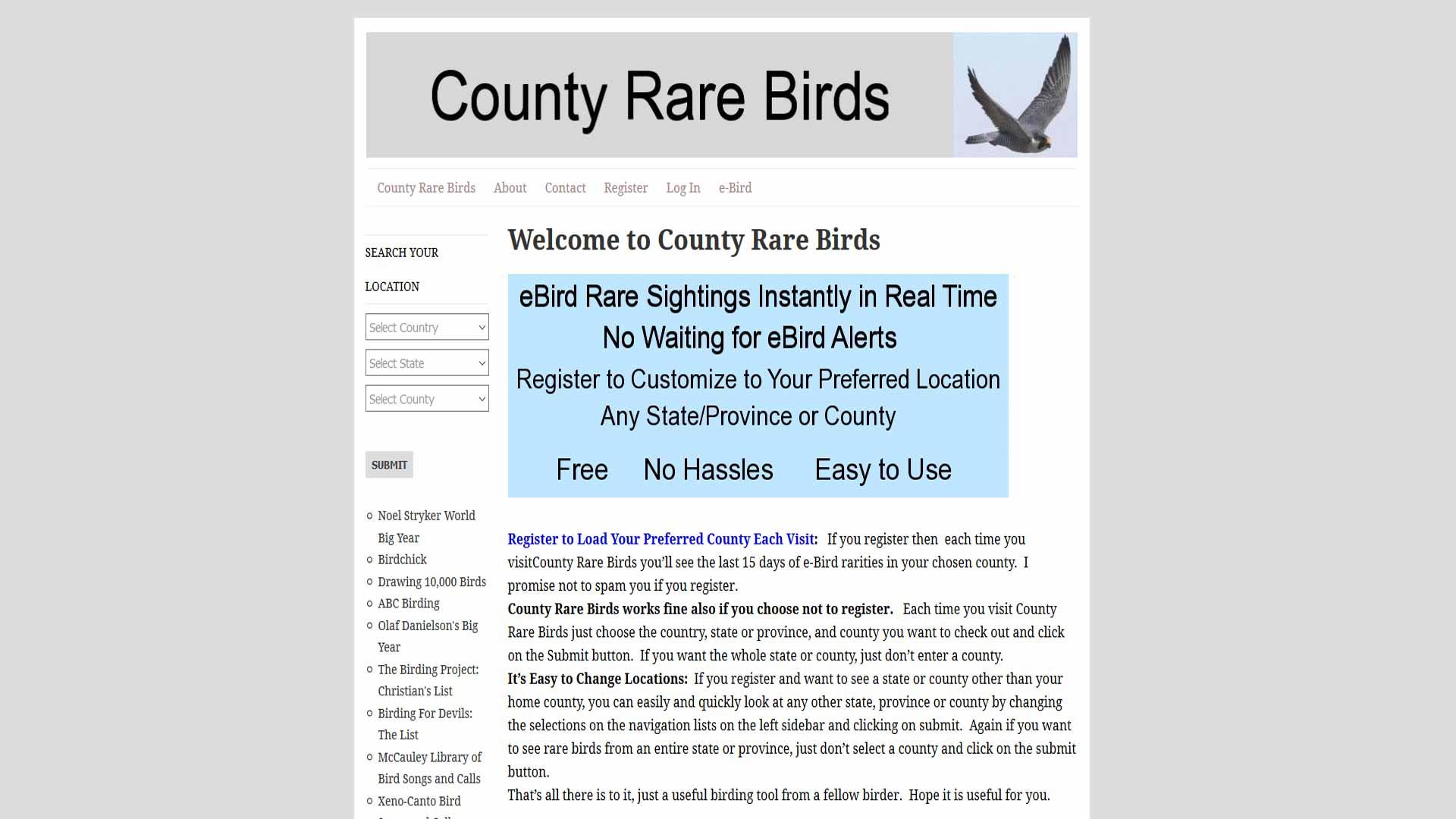 county rare birds